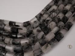 Black Rutilated Quartz 10x14mm faceted
