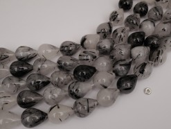 Black Rutilated Quartz 15x20mm smooth