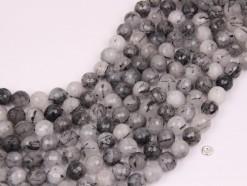 Black Rutilated Quartz beads 10mm faceted(1)