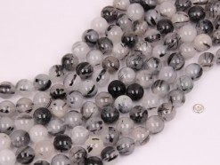 Black Rutilated Quartz beads 10mm smooth(1)