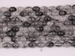 Black Rutilated Quartz rice 12x16mm