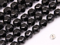 Black Spinel beads 10mm star faceted(2)