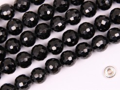 Black Spinel beads 8mm 128 faceted(2)