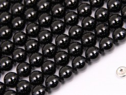 Black Spinel beads 8mm smooth(2)