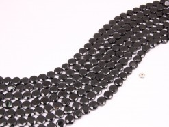Black Spinel coin 8mm faceted(1)