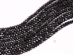 Black Spinel rondelle 8x5mm 64 faceted(1)