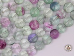 Fluorite coin 8mm smooth(2)