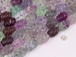 Fluorite rice 10x14mm spiral(2)