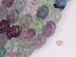 Fluorite rice 12x16mm spiral(2)