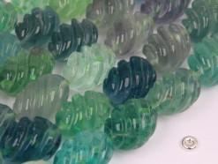 Fluorite rice 16x22mm spiral(2)