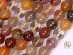 Multi-Rutilated Quartz beads 10mm smooth(2)