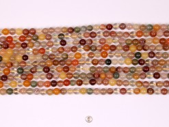 Multi-Rutilated Quartz beads 6mm smooth(1)