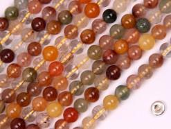 Multi-Rutilated Quartz beads 6mm smooth(2)