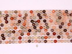 Multi-Rutilated Quartz beads 8mm smooth(1)