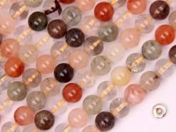 Multi-Rutilated Quartz beads 8mm smooth(2)
