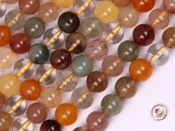 Mutil-Rutilated Quartz beads 8mm smooth(2)