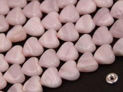 Pink Calcite heart S twisted 10x10mm(2)