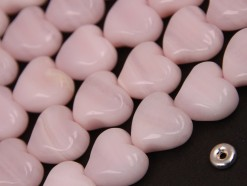 Pink Calcite heart S twisted 14x14mm(2)