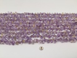 Ametrine drop middle drilled 8x4mm faceted(1)