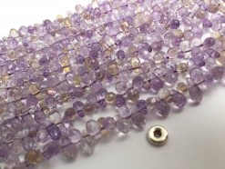 Ametrine drop middle drilled 8x4mm faceted(2)