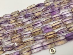 Ametrine rectangle 8x12mm faceted