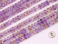 Ametrine rondelle 5x3mm faceted(2)