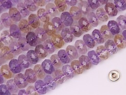 Ametrine rondelle 8x6mm faceted(2)