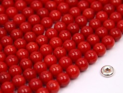 Bamboo Coral (color treated) beads 6mm smooth
