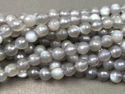 Grey Moonstone Beads 6mm 128F