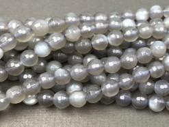 Grey Moonstone Beads 6mm 128F