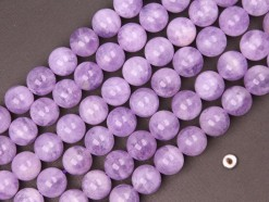 Lavender Amethyst beads 12mm smooth(2)