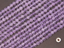 Lavender Amethyst beads 4mm smooth(2)