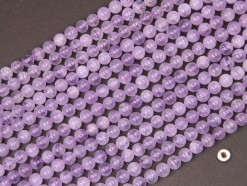 Lavender Amethyst beads 6mm smooth(2)