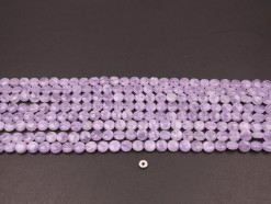 Lavender Amethyst coin 8mm smooth(1)