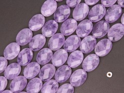 Lavender Amethyst oval 15x20mm faceted(2)