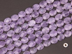 Lavender Amethyst oval 8x10mm faceted(2)