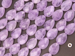 Lavender Amethyst tear drop 13x18mm faceted(2)