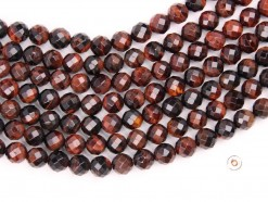 Red Tiger Eye AB beads 8mm faceted(2)