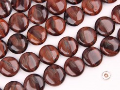 Red Tiger Eye AB coin 14mm smooth(2)