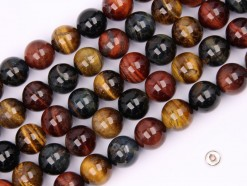 Three Color Tiger Eye AB beads 12mm smooth