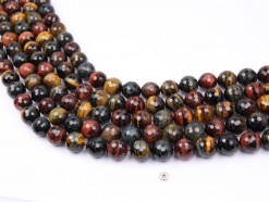 Three Color Tiger Eye AB beads 14mm faceted(1)