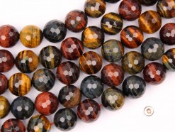 Three Color Tiger Eye AB beads 14mm faceted(2)