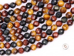 Three Color Tiger Eye AB+ beads 6mm faceted(2)