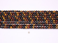 Three Color Tiger Eye AB+ beads 8mm smooth(1)