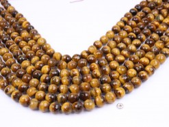 Yellow Tiger Eye AB beads 10mm 128 faceted(1)