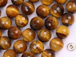 Yellow Tiger Eye AB beads 10mm 128 faceted(2)