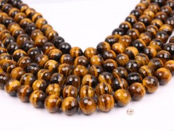 Yellow Tiger Eye AB+ beads 14mm 128 faceted(1)