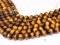 Yellow Tiger Eye AB beads 14mm smooth(1)