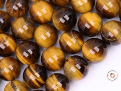 Yellow Tiger Eye AB beads 14mm smooth(2)