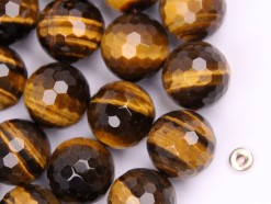Yellow Tiger Eye AB+ beads 16mm 128 faceted(2)
